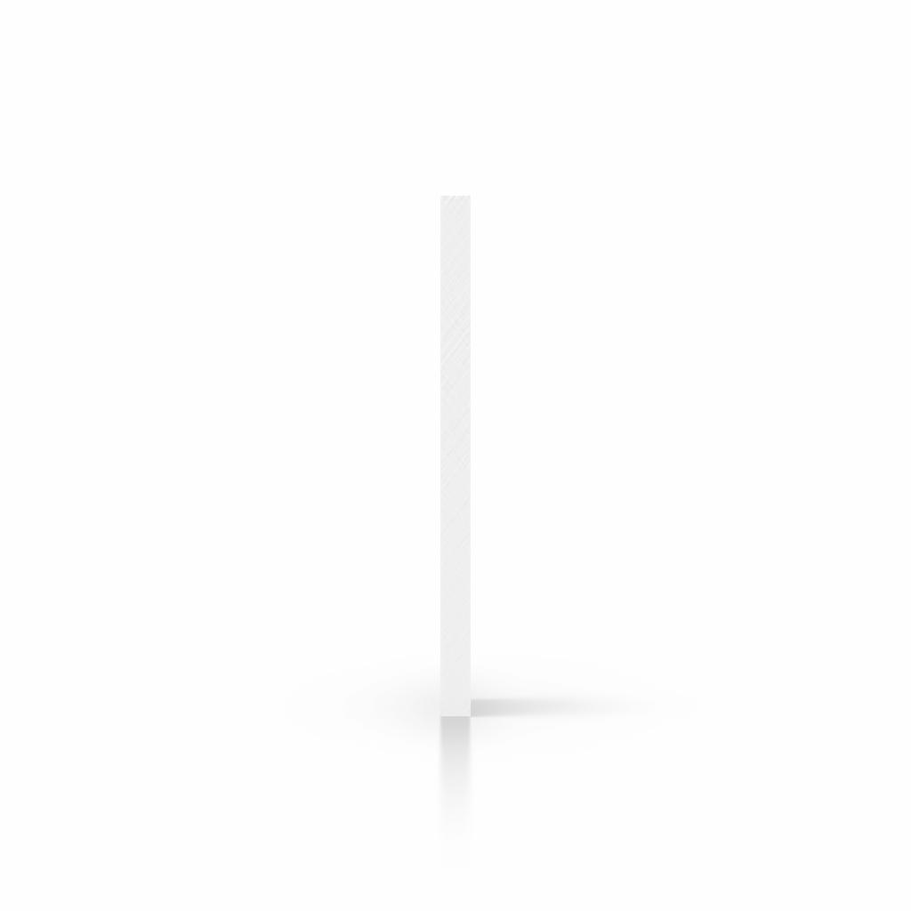 Cote plaque plexiglass blanc