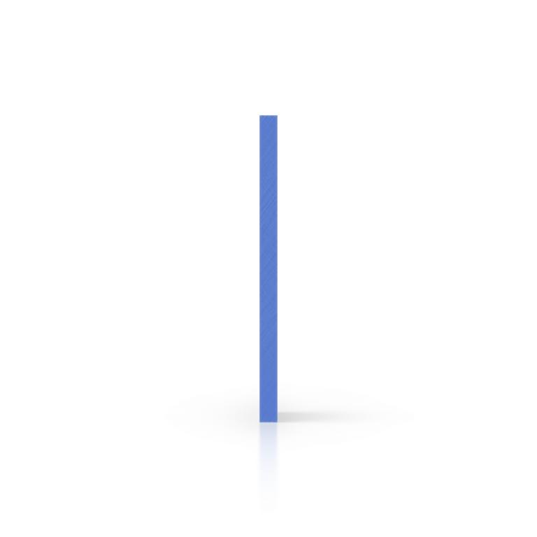 Cote plaque plexiglass bleu opale