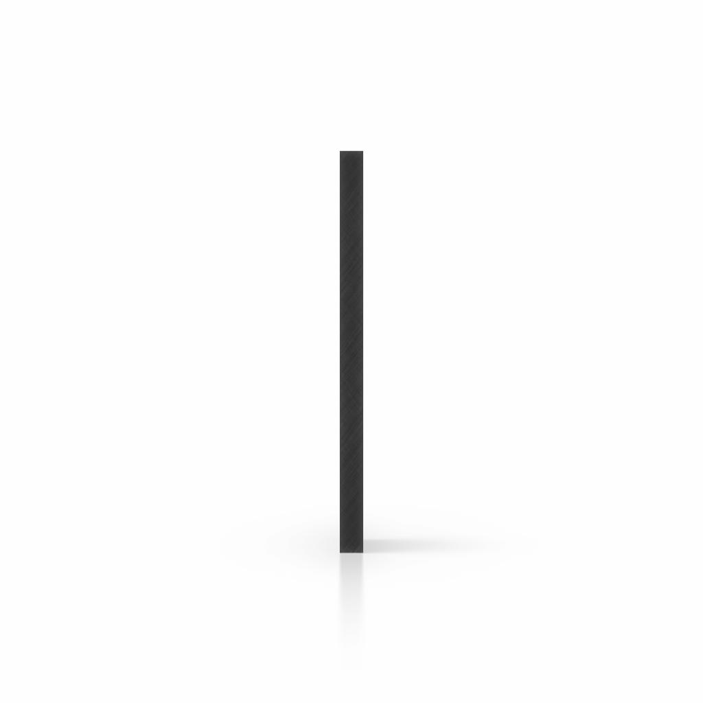 Cote plaque plexiglass noir