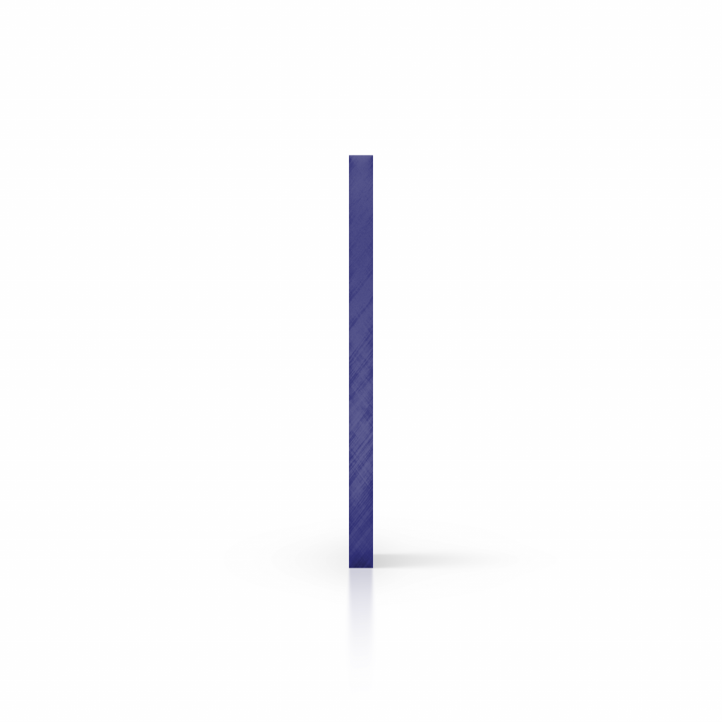 Cote plaque plexiglass teinte bleu