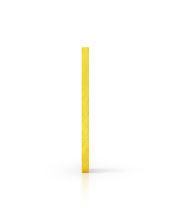 Cote plaque plexiglass teinte jaune