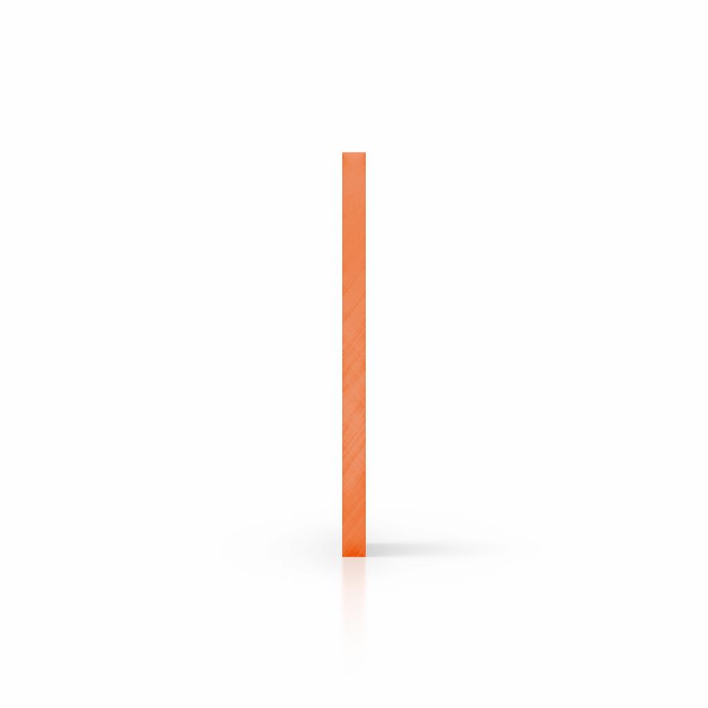 Cote plaque plexiglass teinte orange