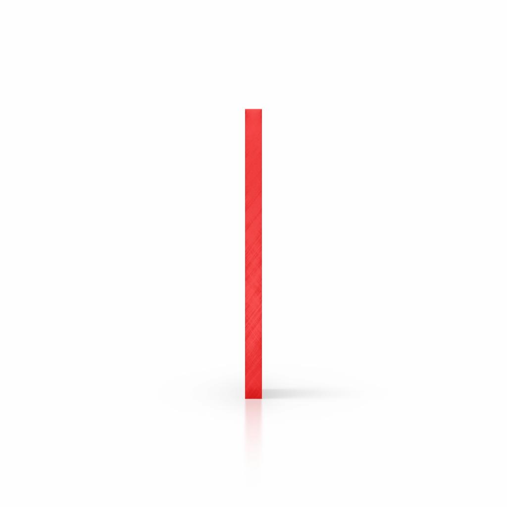 Cote plaque plexiglass teinte rouge