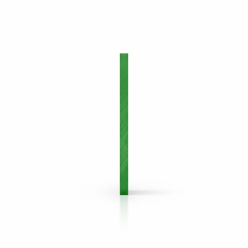 Cote plaque plexiglass teinte vert