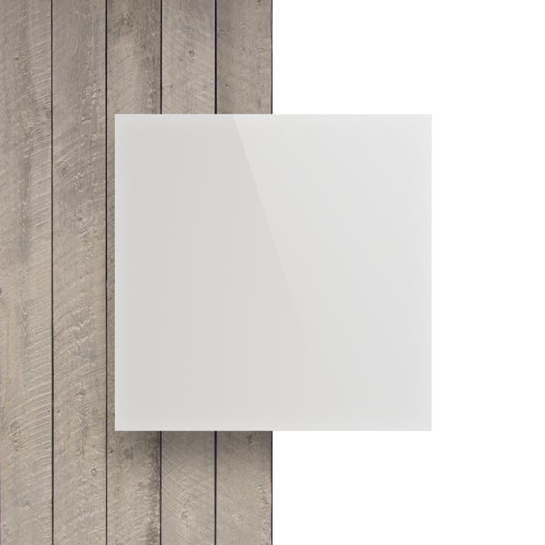Devant plaque Plexiglass blanc opale