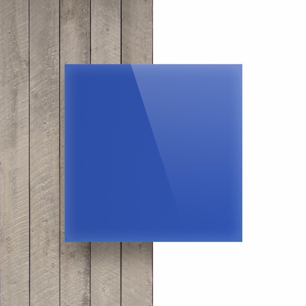 Devant plaque Plexiglass bleu opale