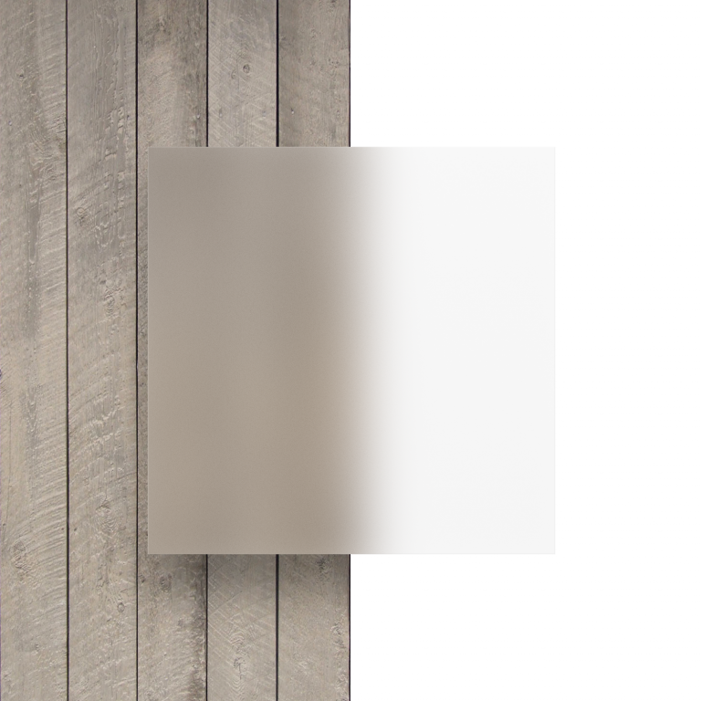 Devant plaque Plexiglass depoli