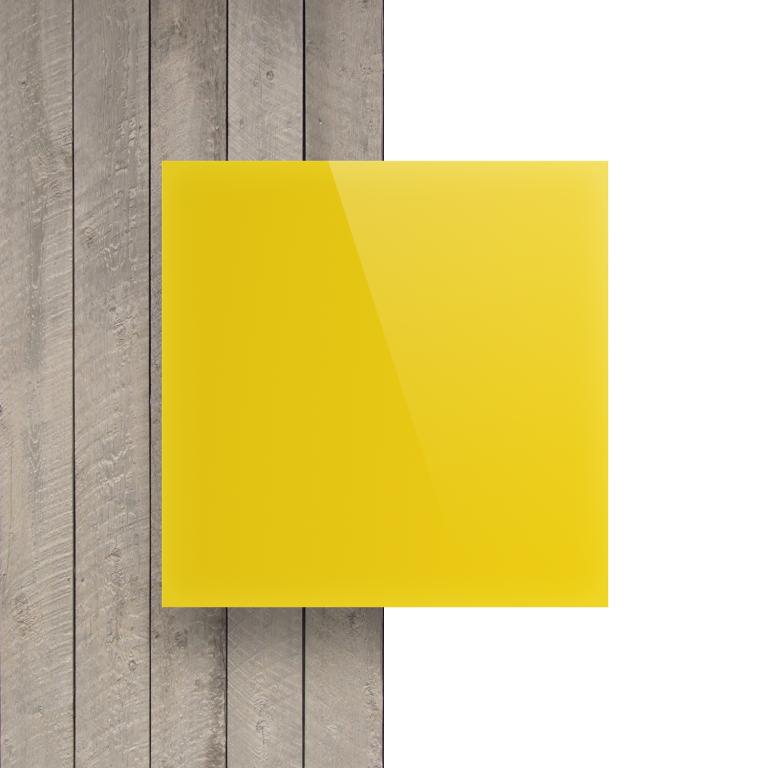 Devant plaque Plexiglass jaune opale
