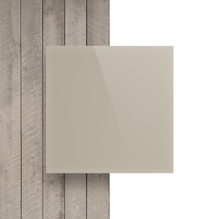 Devant plaque Plexiglass satine blanc creme
