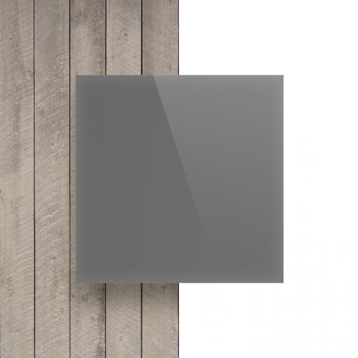 Devant plaque Plexiglass satine gris cement brille