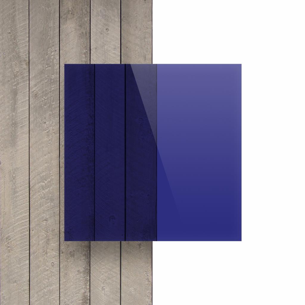 Devant plaque Plexiglass teinte bleu