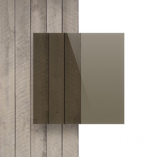 Devant plaque Plexiglass teinte brun