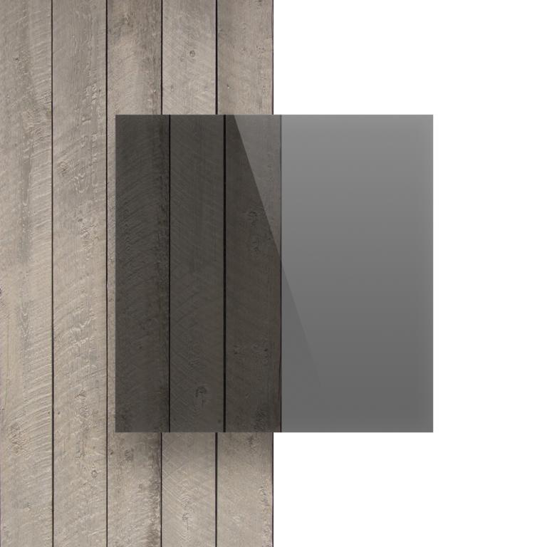 Devant plaque Plexiglass teinte gris