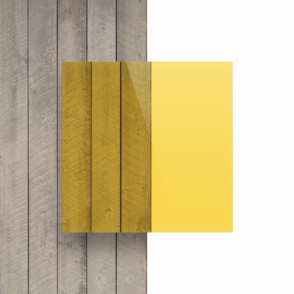 Devant plaque Plexiglass teinte jaune
