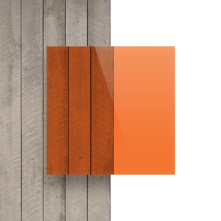 Devant plaque Plexiglass teinte orange