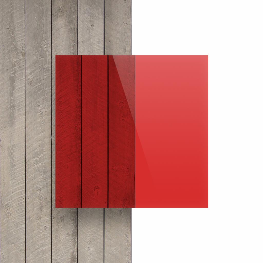 Devant plaque Plexiglass teinte rouge