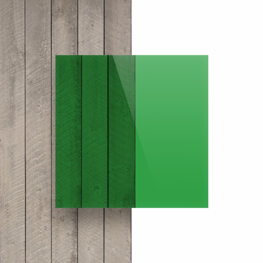 Devant plaque Plexiglass teinte vert