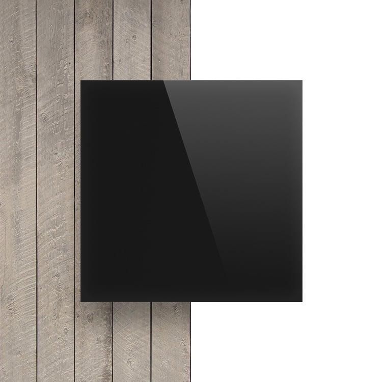 Devant plaque plexiglass noir