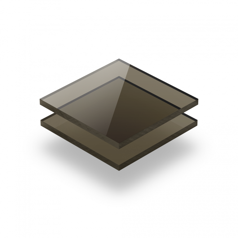 Plexiglass brun teinté