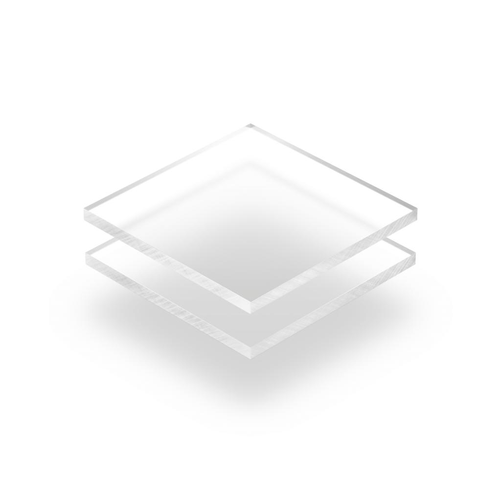 Plexiglass dépoli transparent