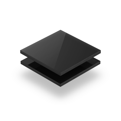 Plexiglass noir