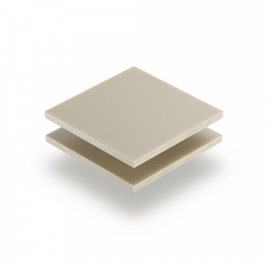 Plexiglass satiné blanc crème mate