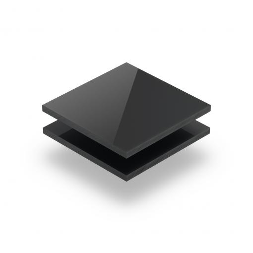 Plexiglass satiné gris anthracite brilliant