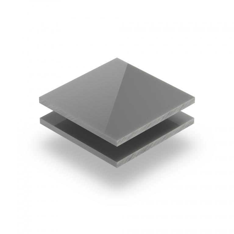 Plexiglass satiné gris ciment brilliant