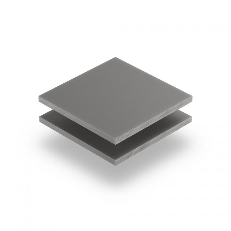 Plexiglass satiné gris ciment mate