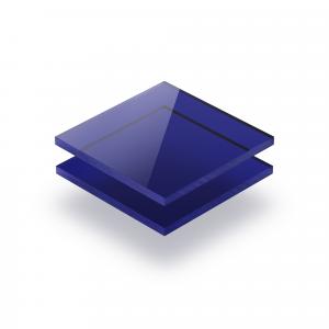 Plexiglass teinté bleu