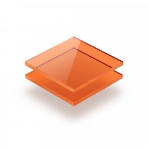 Plexiglass teinté orange