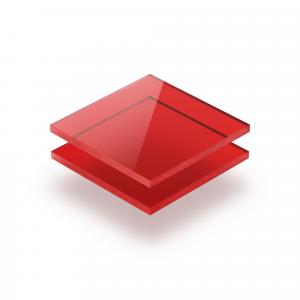 Plexiglass teinté rouge