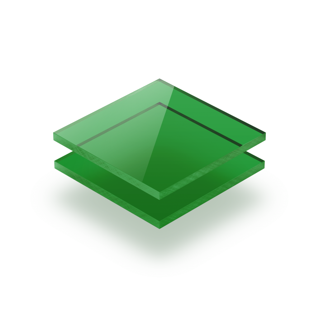 Plexiglass teinté vert