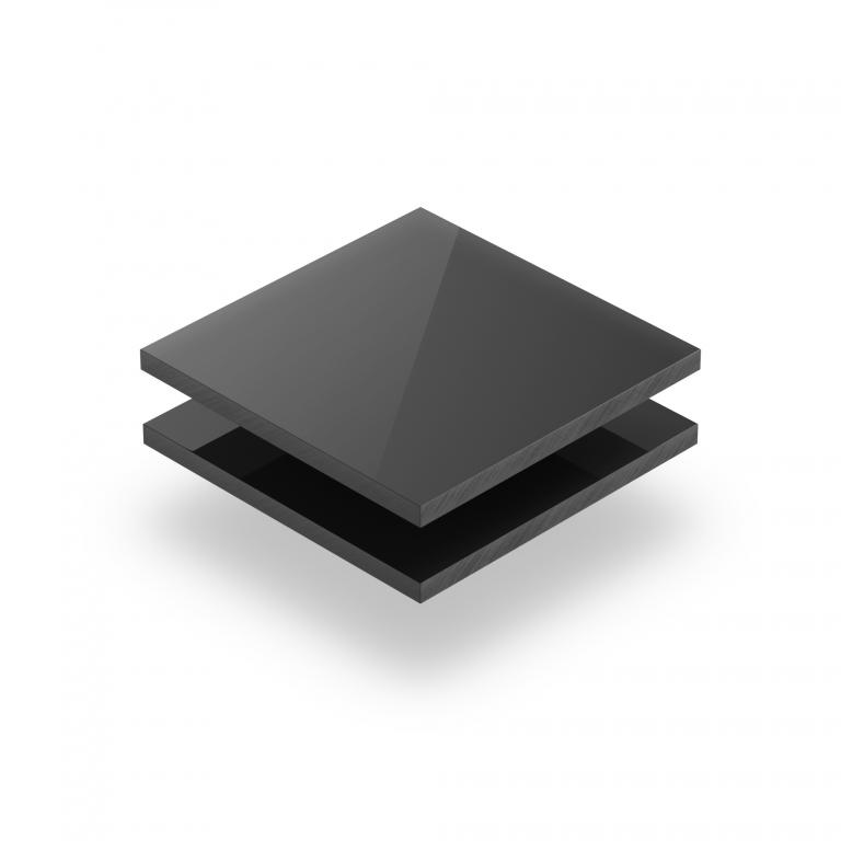 Plaque PVC rigide gris foncé