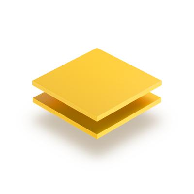 Plaque PVC expansé jaune