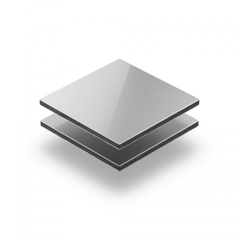 Panneau composite aluminium argent