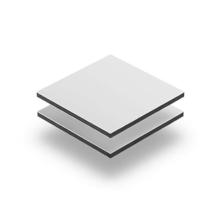 Panneau composite aluminium blanc mat