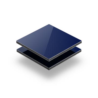 Panneau composite aluminium bleu