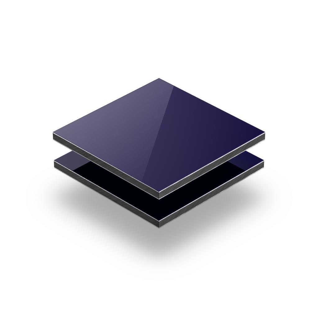 Panneau composite aluminium bleu foncé