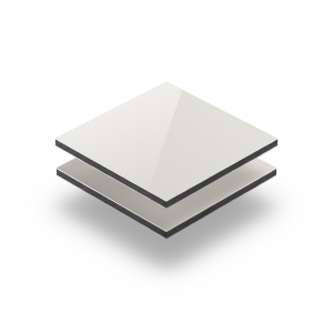 Panneau composite aluminium ivoire