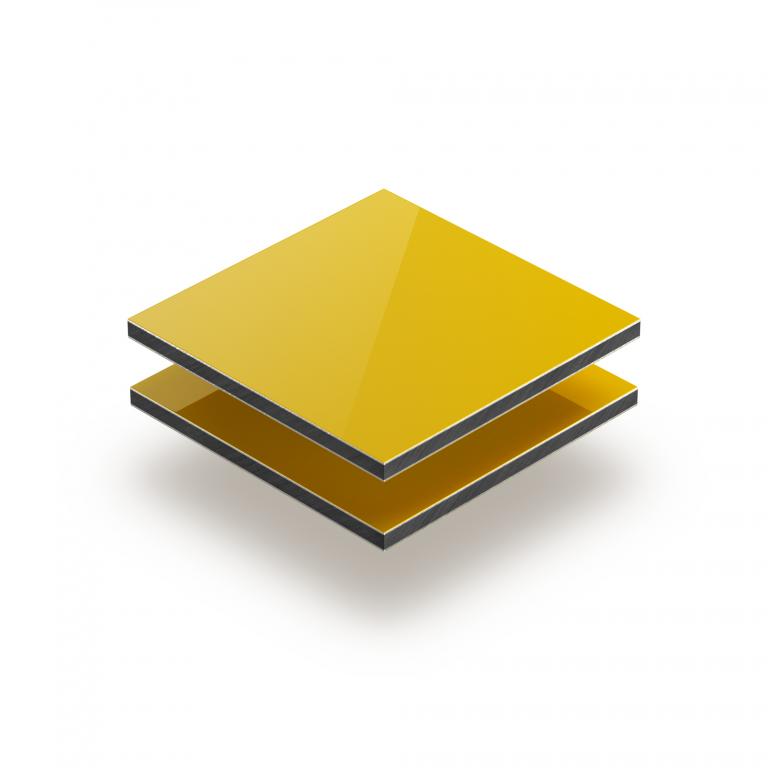 Panneau composite aluminium jaune