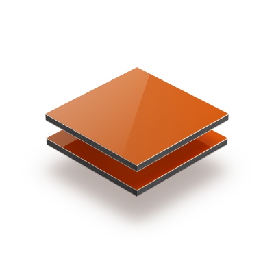 Panneau composite aluminium orange