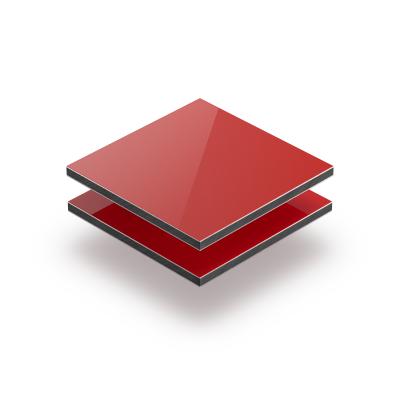 Panneau composite aluminium rouge
