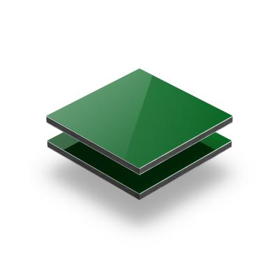 Panneau composite aluminium vert