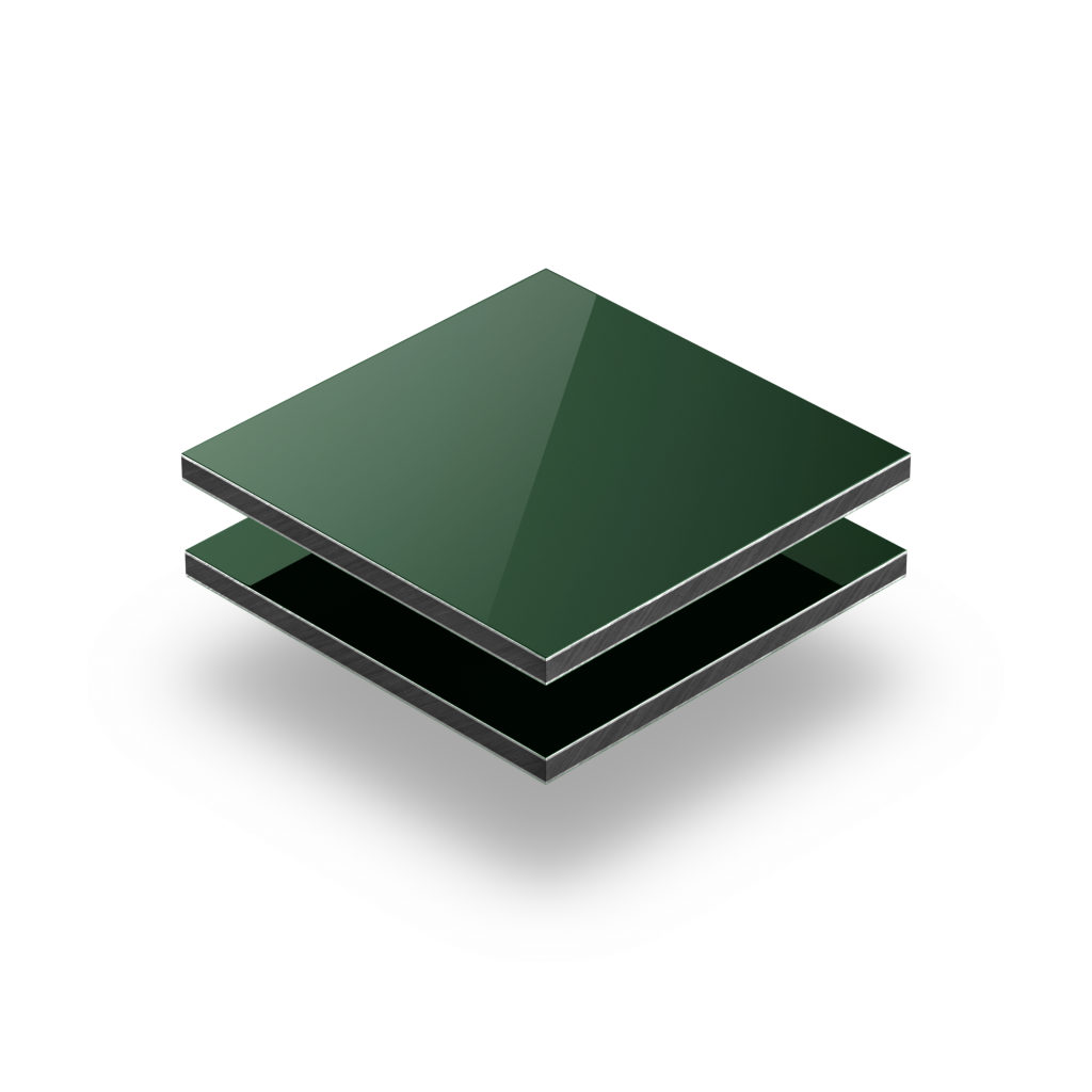 Panneau composite aluminium vert foncé