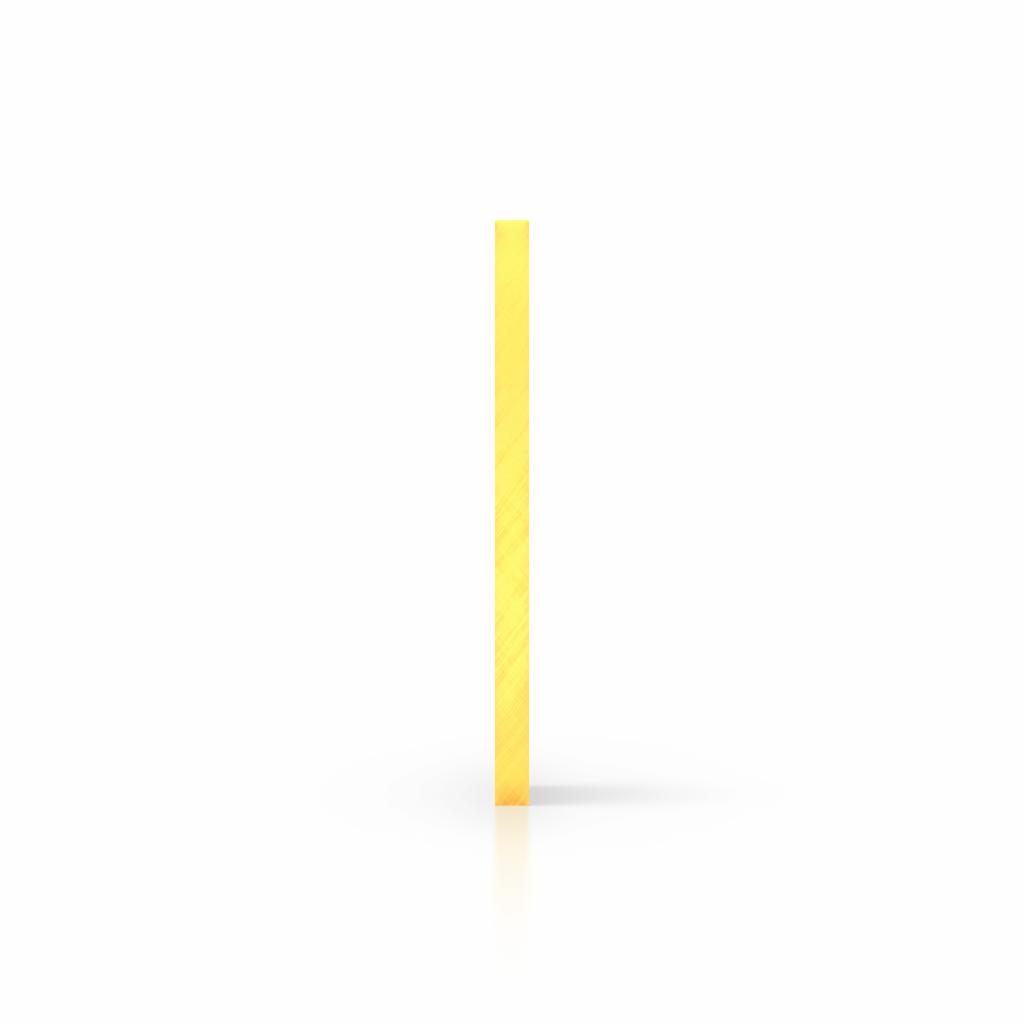 Cote plaque plexiglass fluorescent jaune