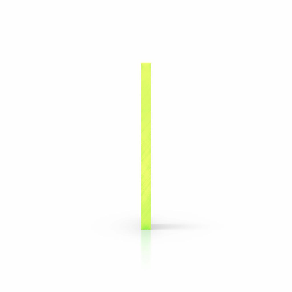 Cote plaque plexiglass fluorescent vert