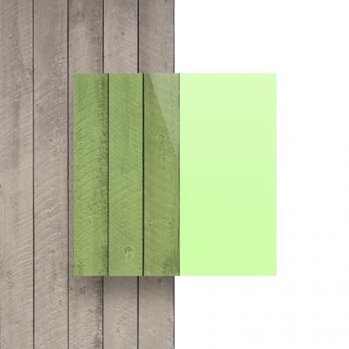 Devant plaque Plexiglass fluorescent vert