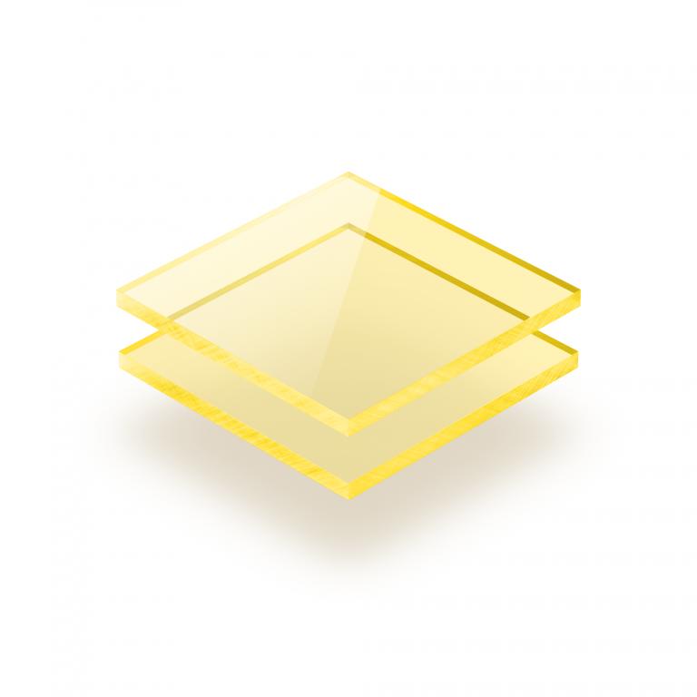 Plexiglass fluorescent jaune