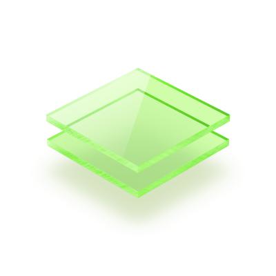Plexiglass fluorescent vert